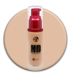 W7 HD Foundation Natural Beige