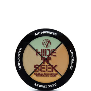 W7 Hide 'N' Seek Anti-Redness Concealer Quad