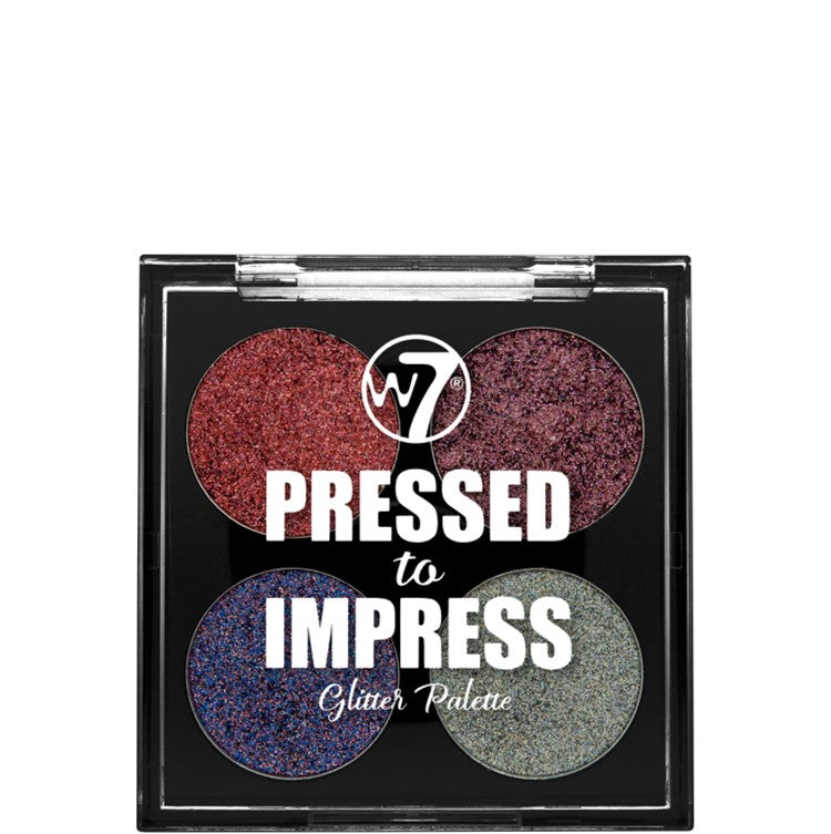 All The Rage W7 Pressed To Impress Glitter Eyeshadow Palette