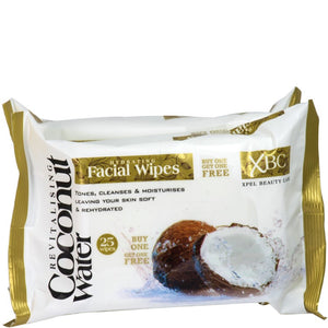 XBC Coconut Water Hydrating Facial Wipes 25 Twin Pack