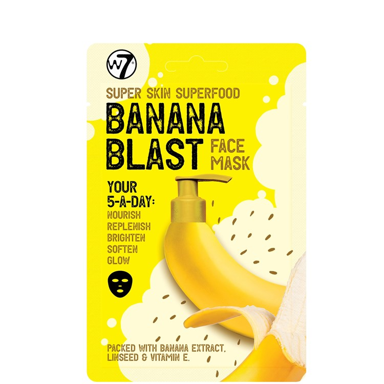 W7 Banana Blast Face Mask, Super Skin Superfood