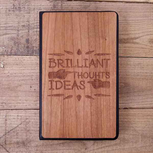 So Many Ideas - Wooden Journal