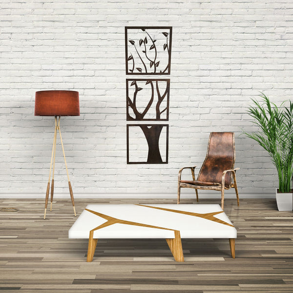 Wall Art - 3 Panel Wood Cut Tree Wall Hanging -  - District 31 - 1