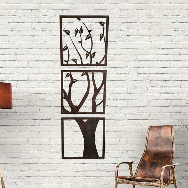 Wall Art - 3 Panel Wood Cut Tree Wall Hanging -  - District 31 - 2