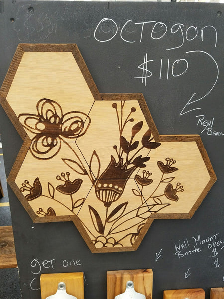 Wall Art - Honeycomb Flower Wall Hanging -  - District 31
