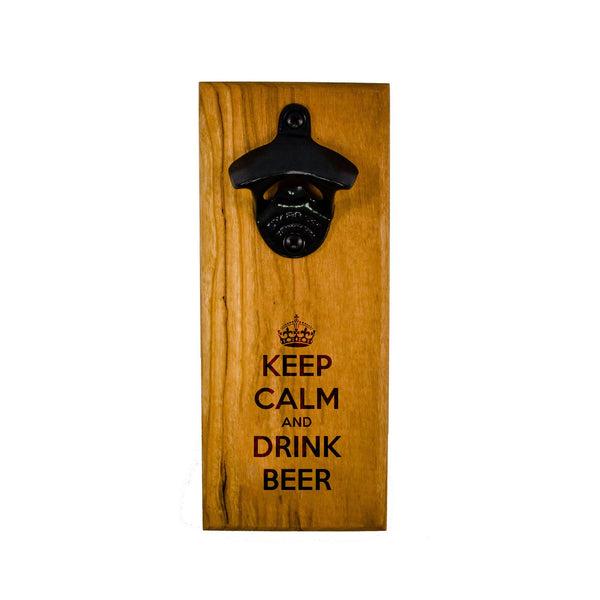 Wall Mount Bottle Opener - Keep Calm and Drink Beer - Bottle Opener -  - District 31