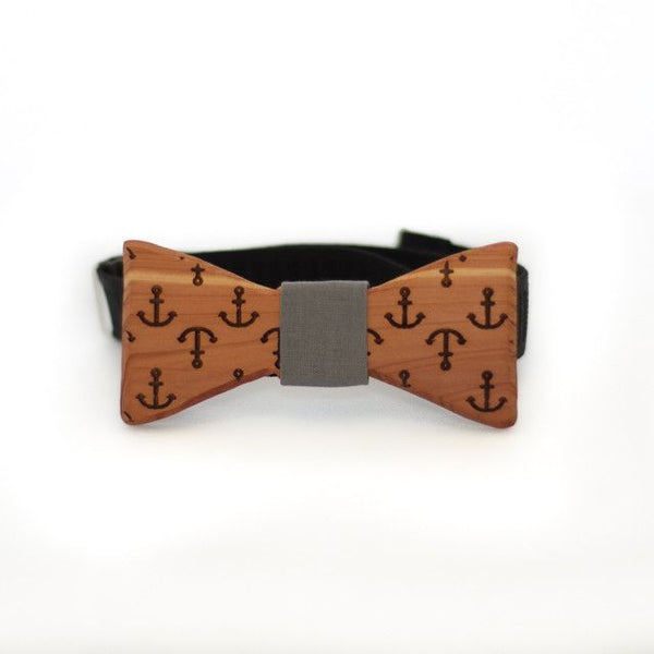 Bow Tie - The Slimline Wooden Bow Tie - Anchors -  - District 31 - 1