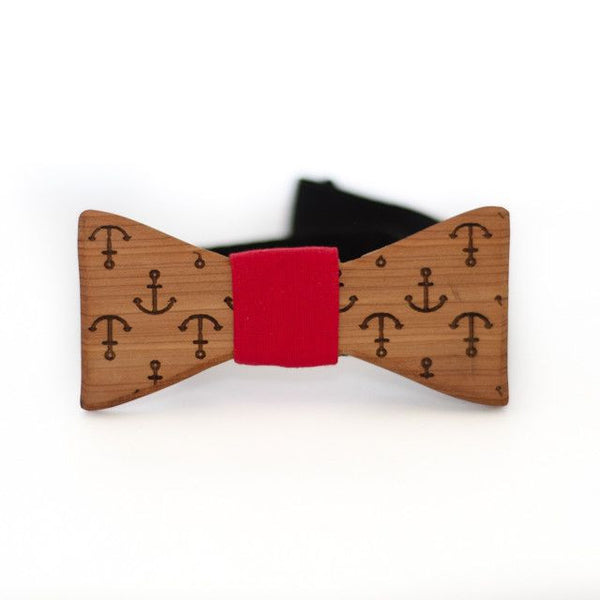 Bow Tie - The Slimline Wooden Bow Tie - Cincinnati Skyline - Cedar / Grey - District 31 - 3