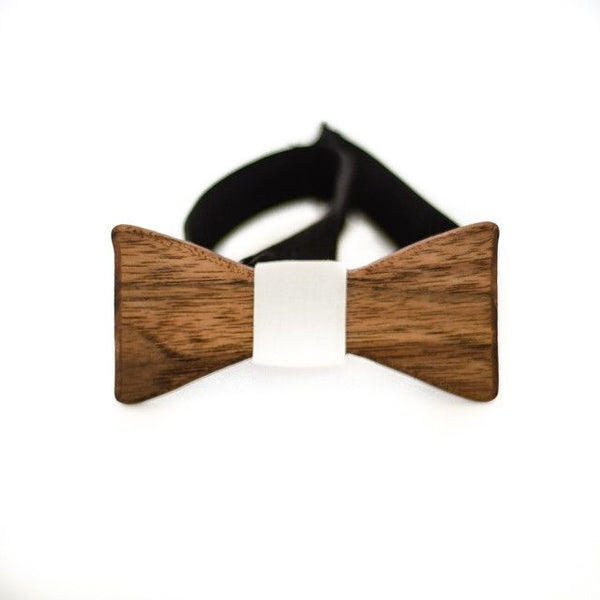Bow Tie - The Slimline Wooden Bow Tie - Cincinnati Skyline - Walnut / Grey - District 31 - 2