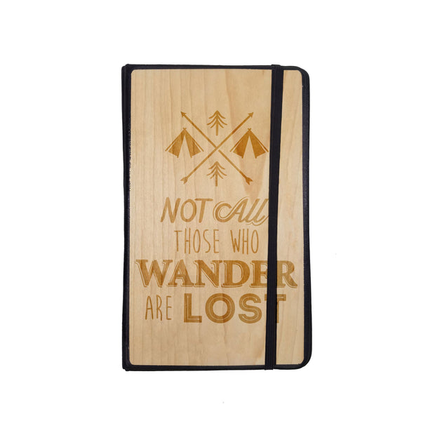 Stationary - Not All Those Who Wander - Wooden Journal -  - District 31 - 2