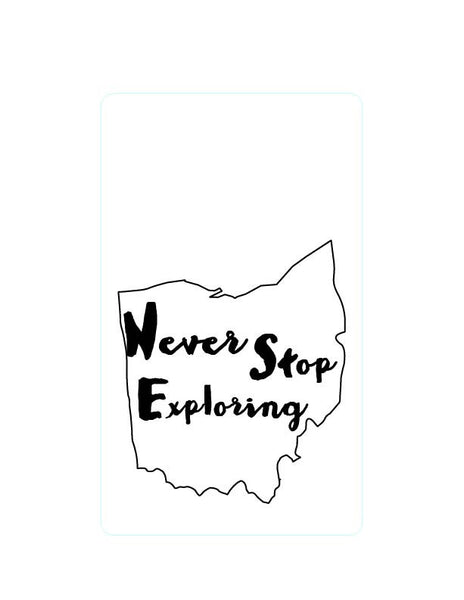 Ohio - Never stop exploring - Wooden Journal