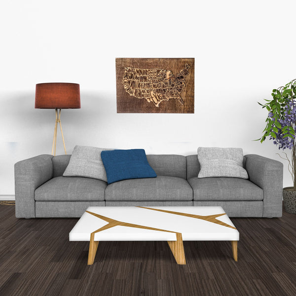 Wall Art - USA Map Engraving Wall Panel -  - District 31 - 1