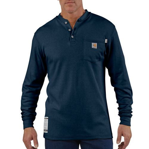 FLAME-RESISTANT LONG-SLEEVE HENLEY