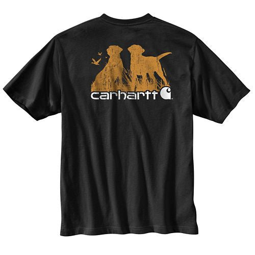 Workwear Graphic Hunting Dogs Pocket Short-Sleeve T-Shirt-Closeout