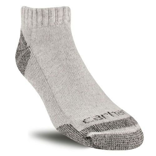 Carhartt Mens Cotton Low‑Cut Work Sock, 3‑Pack