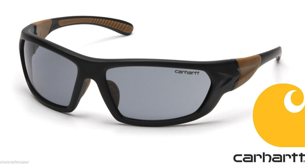 Carhartt CHB220D Men's ANSI Z87.1 Carbondale Smoke Grey Shooting Safety Glasses