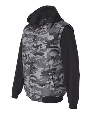 Burnside - Nylon Vest with Fleece Sleeves - 8701