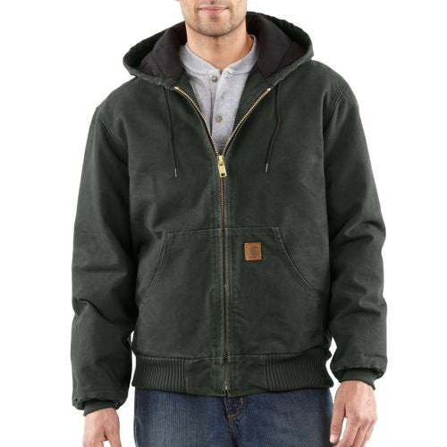 Carhartt J130 Men's Quilted-Flannel-Lined Sandstone Active Jac