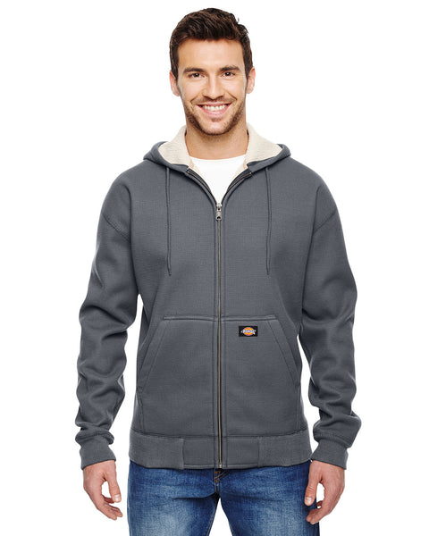Dickies Men's 450 Gram Sherpa-Lined Fleece Hooded Jacket