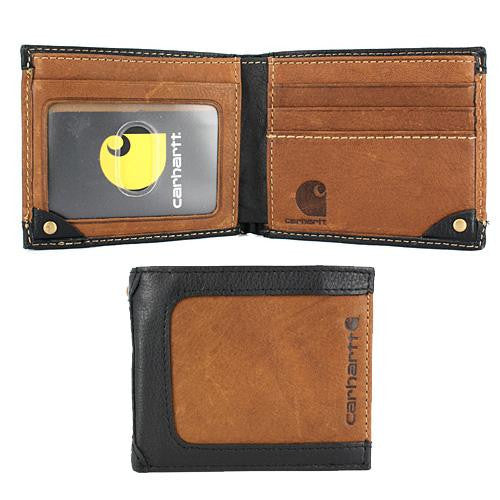 Carhartt Black & Tan Billfold Wallet
