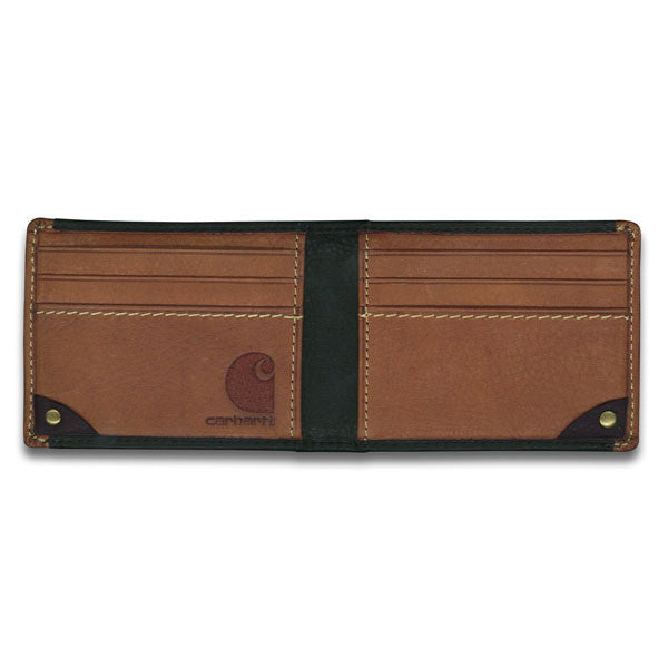 Carhartt Men's Black & Tan Long-Neck Wallet