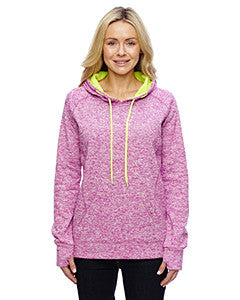 J America Ladies' Ladies' Cosmic Contrast Fleece Hood