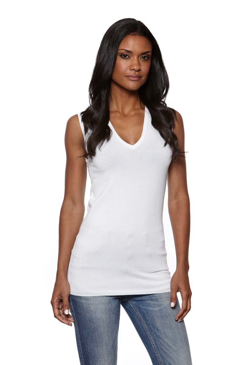 ABBY Fitted V-Neck Tank