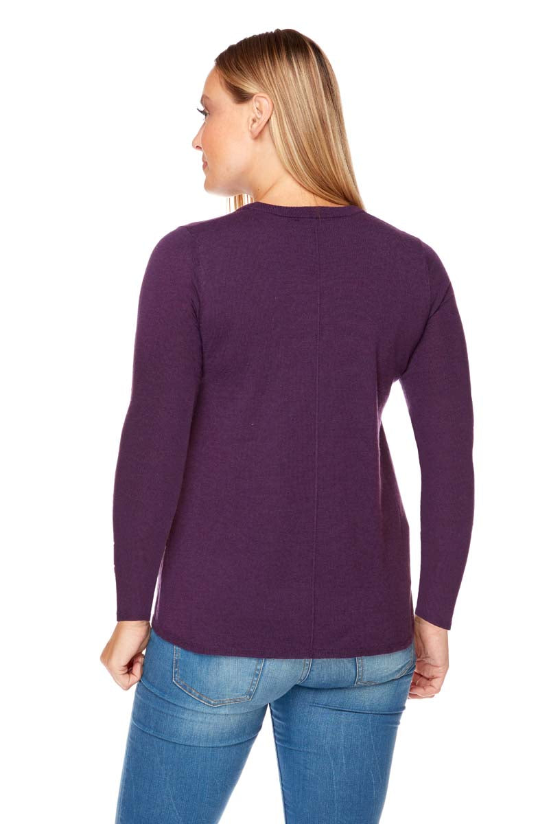 ALAINA Swing Body, Long Sleeve Lightweight Sweater