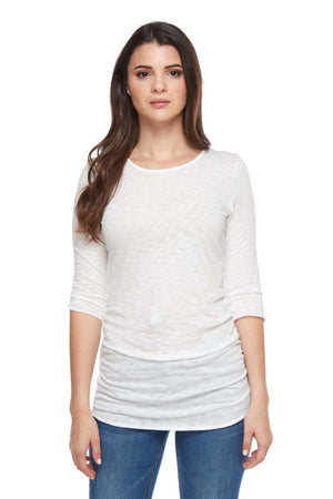 ALEXA Semi Sheer Crewneck Tee