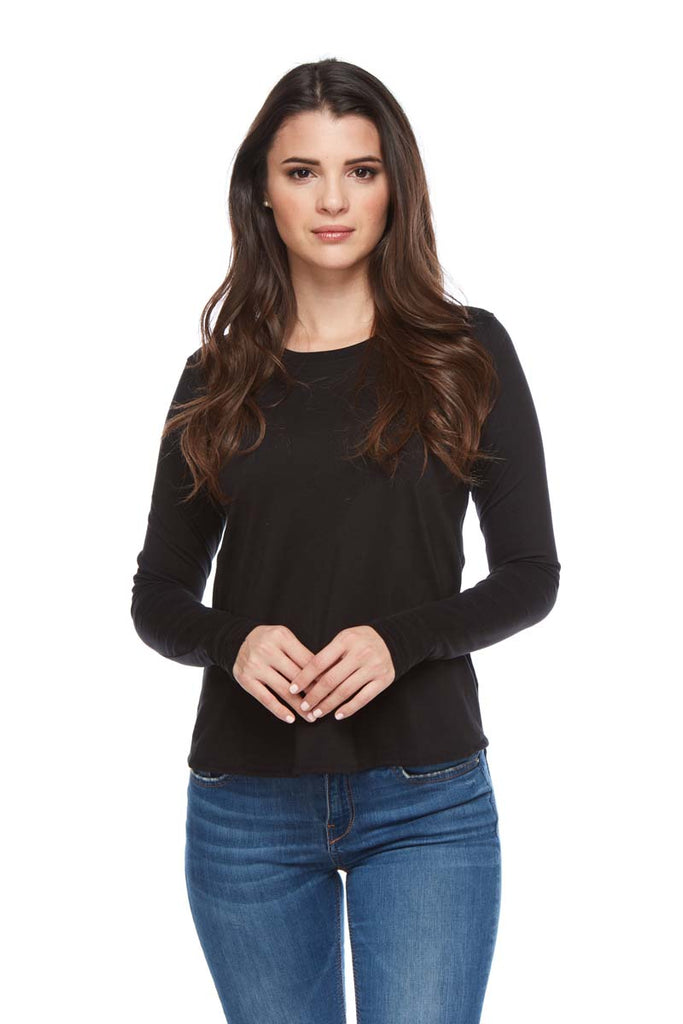 AMELIA Small Scoop Pleat Back Long Sleeve