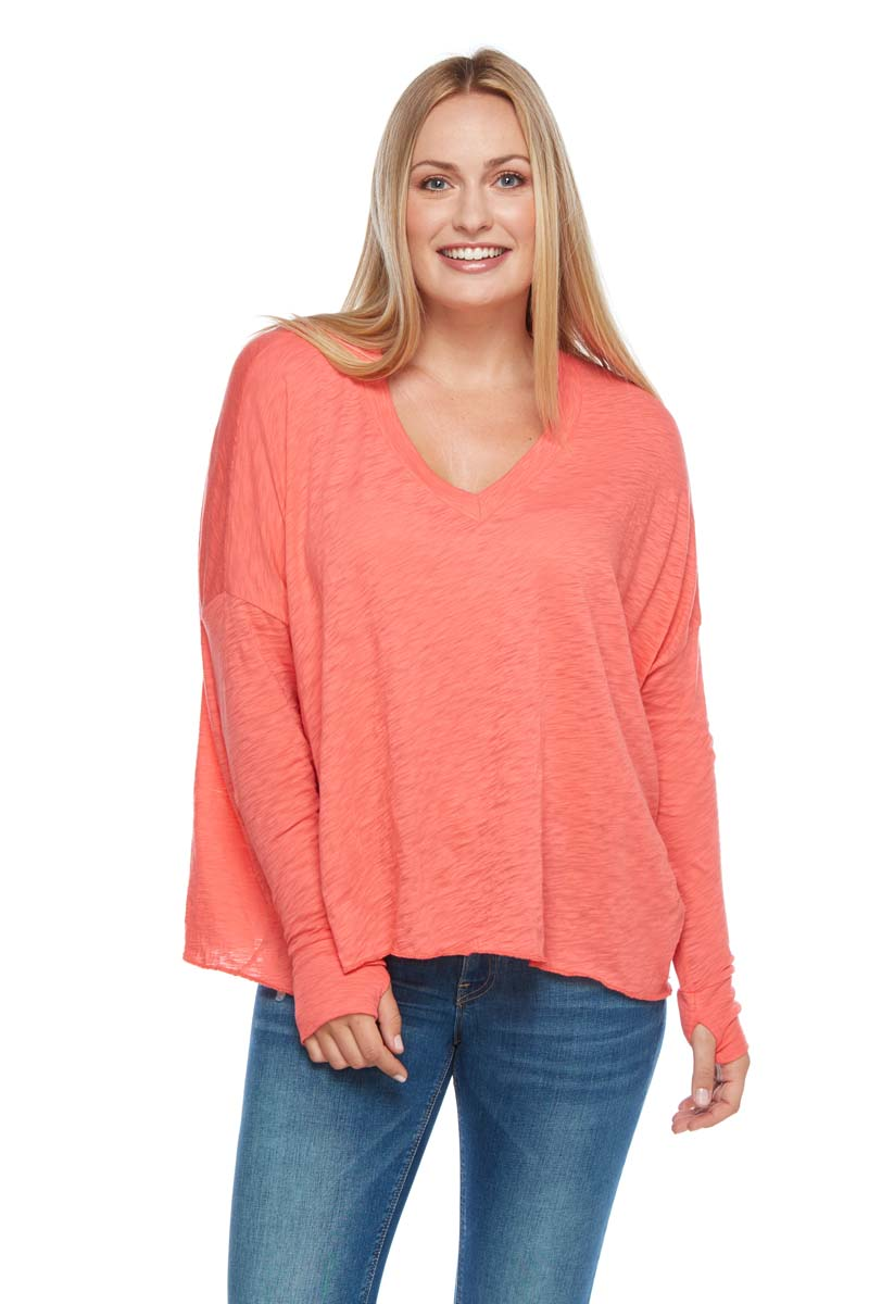 ARIA Boxy Long Sleeve V-Neck