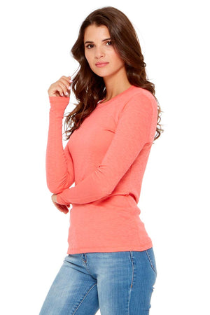 DAISY Ribbed Long Sleeve Tee