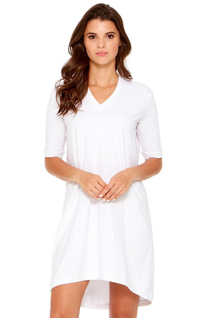 GAL 3/4 Sleeve V-Neck Dress