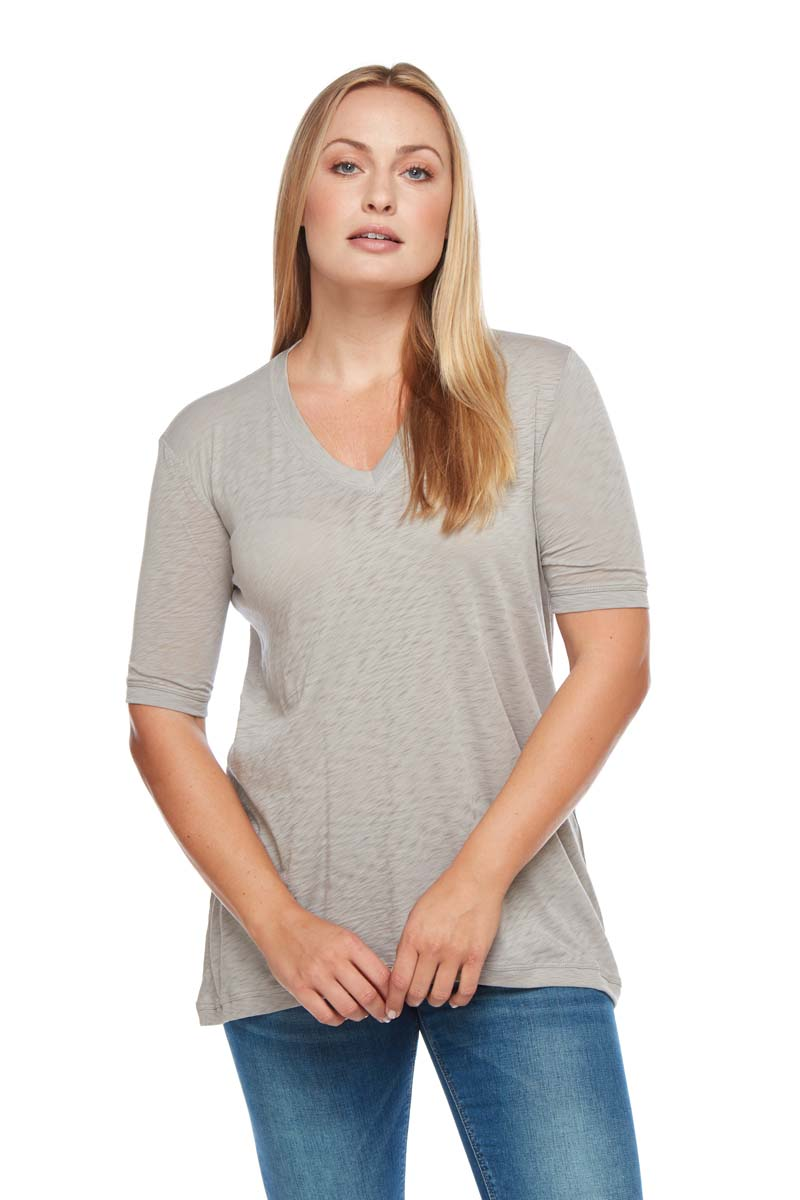 GWEN High Low V-Neck Top