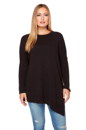 GINA Relaxed Fit Angled Bottom Sweater