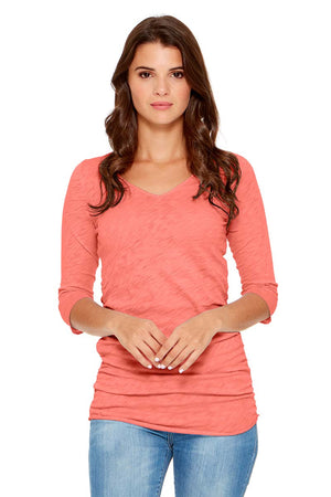 HARPER ¾ Sleeve V-Neck Top