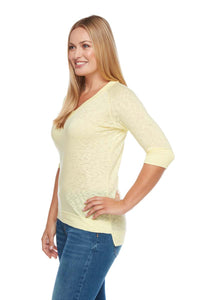 KATIE Relaxed Fit Raglan V-Neck