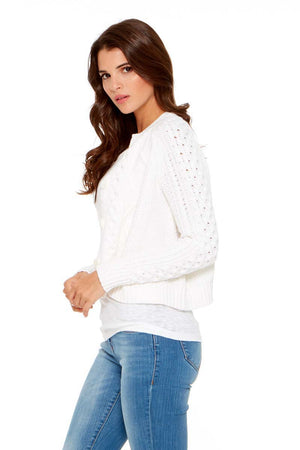 KODIE Cable Knit Button Front Sweater
