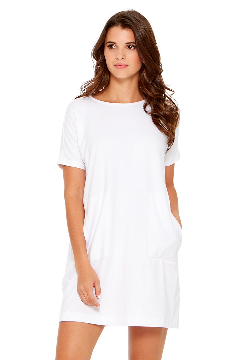 LARA Short Sleeve Dress w/ Pockets