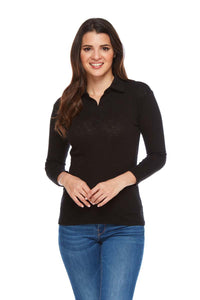 LIV Pima Cotton 3/4 Sleeve Polo