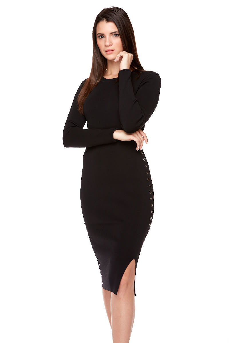 MEADOW Long Sleeve Fitted Dress