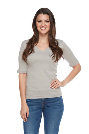 NINA Essential Soft Cotton V-Neck