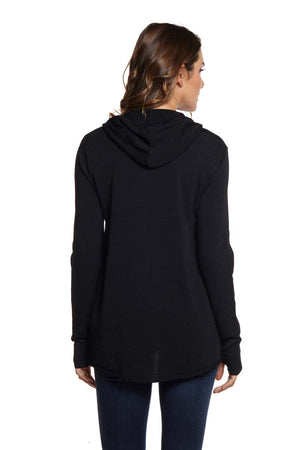 PAIGE Zip Front Hoodie High Low
