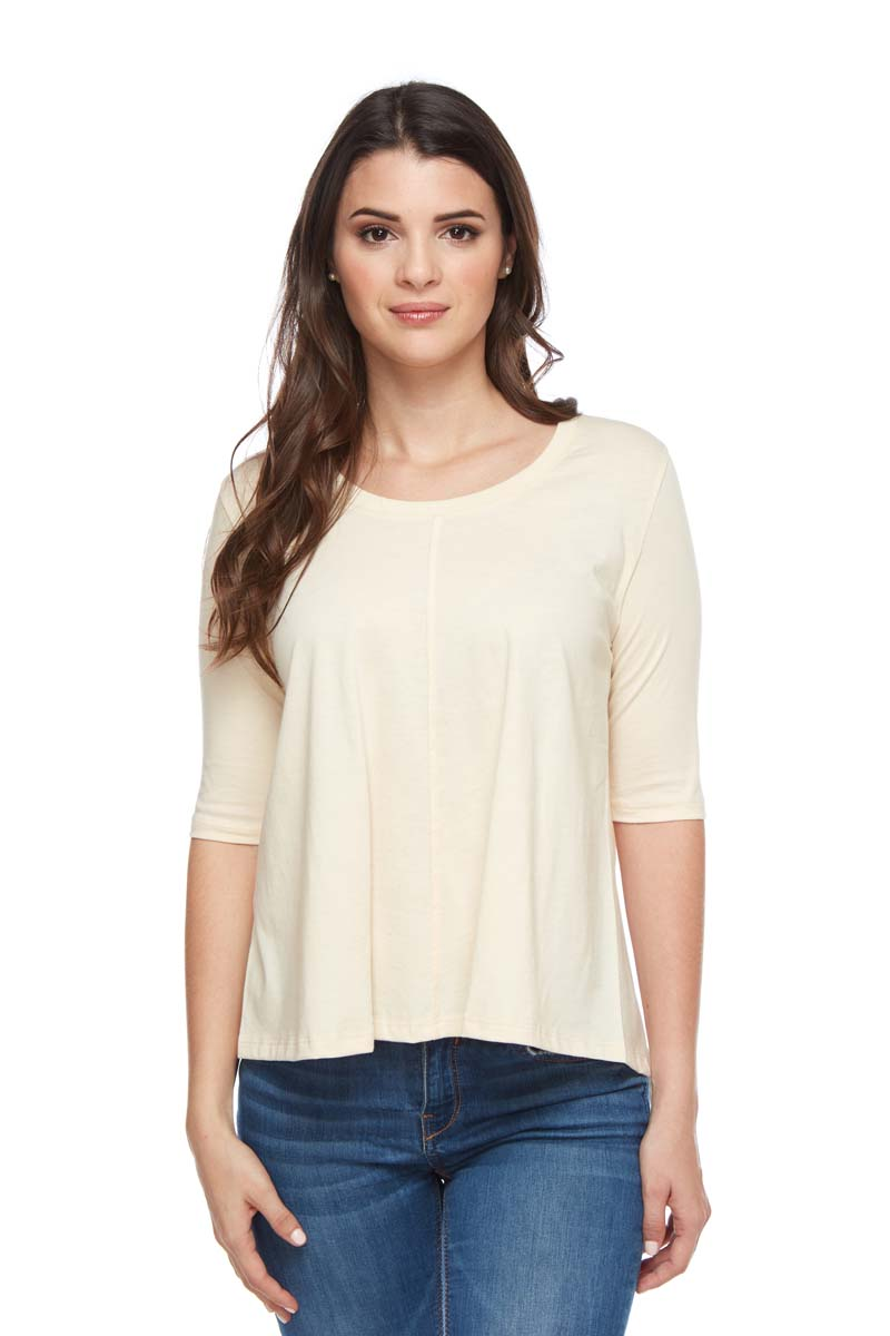 SARA Scoop Neck 3/4 Sleeve