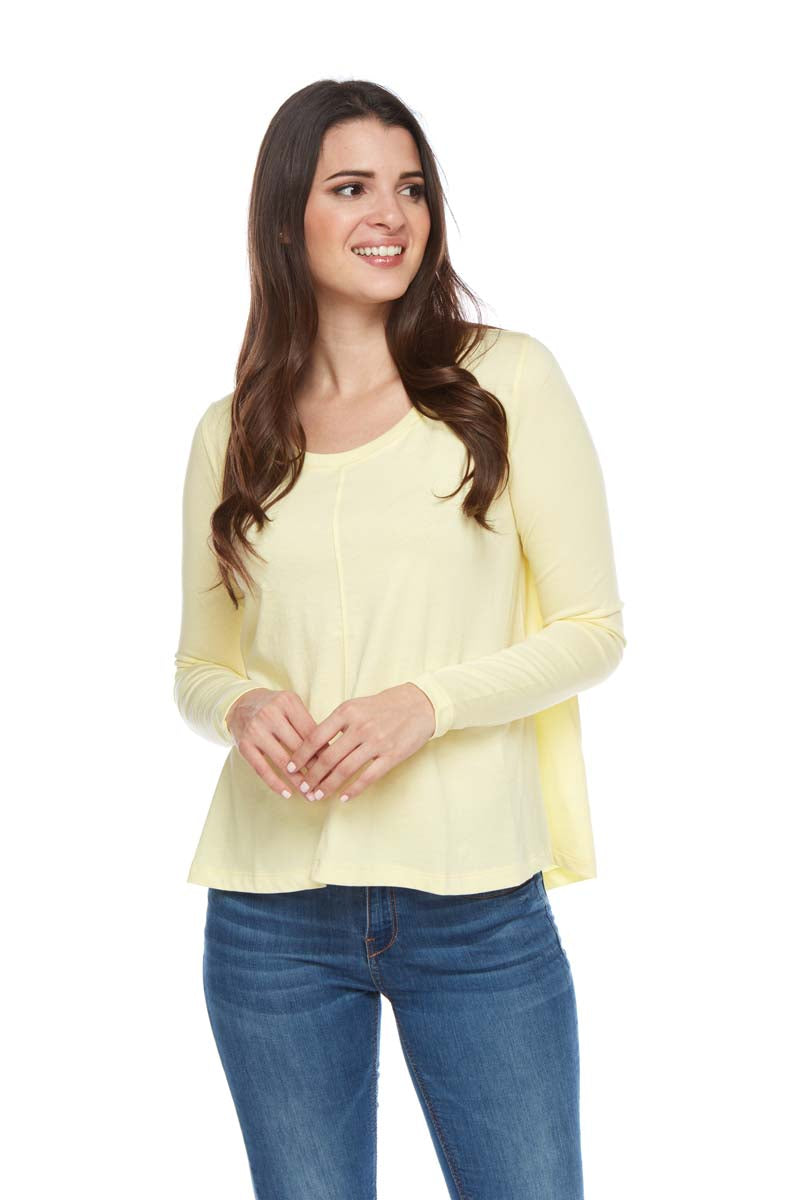 SASHA Scoop Neck Long Sleeve