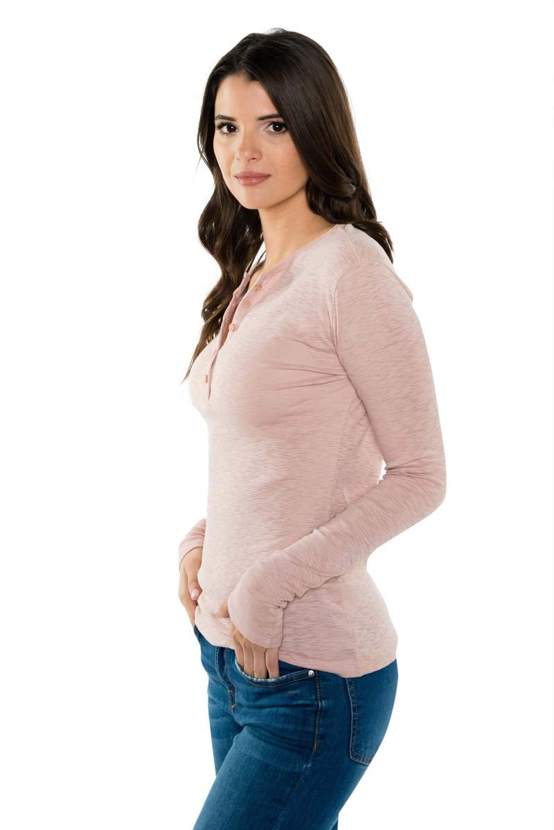 TALI Long Sleeve Pima Cotton Henley