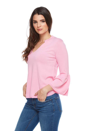 TINSLEY Fitted Bell Sleeve Sweater