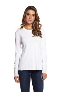ZOE Long Sleeve High Low Crew