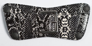 Belt - Black and White Python