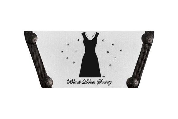 Black Dress Society Logo Top with Crystals